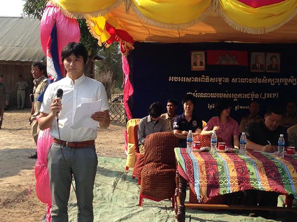 20140427カンボジア工藤さんスピーチ