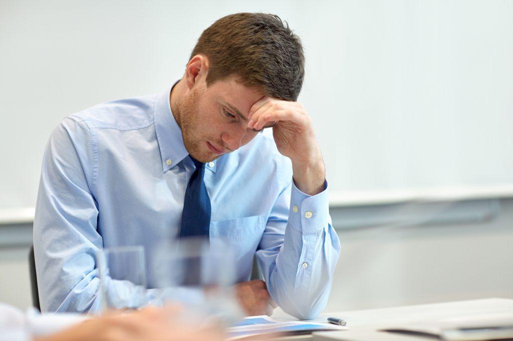 businessman having problem in office